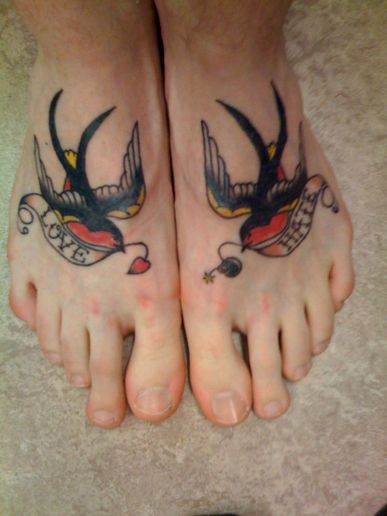 Bird Tattoo Design for Girls Feet. Famous Tattoo Quotes: