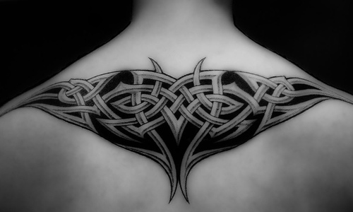 Designs With Image Upper male back tattoos
