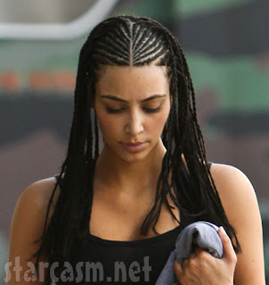 Kim Kardashian latest Cornrow Hairstyle Pictures