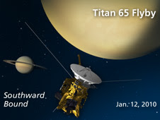 Artist's concept of Cassini's Jan. 12, 2010