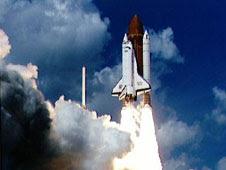 Liftoff of STS-34 Atlantis, carrying the Galileo spacecraft