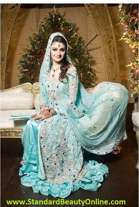 Light Blue Sky color Indian Bridal Dresses