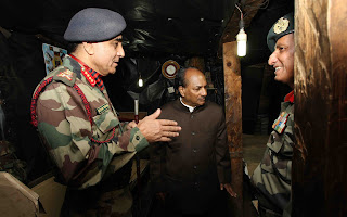 Photos: Defence Minister visits J&K forward areas