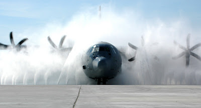 C 130J Hercules cleaning