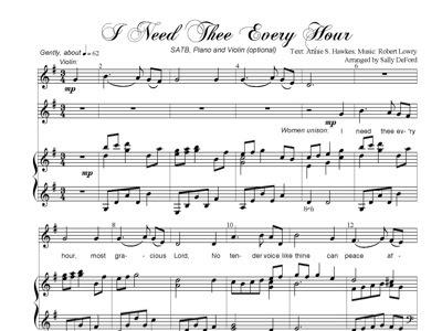 i need thee every hour lyrics pdf