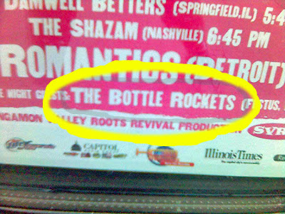 The Bottle Rockets take the stage at 10 pm after the amateurs have gone to bed.