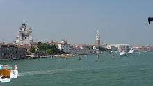Sailing past Venice