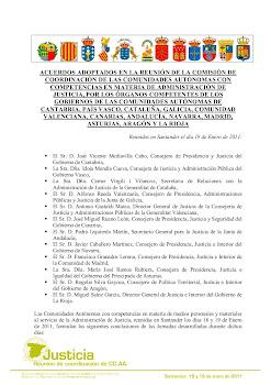 ACUERDO DE LAS COMUNIDADES AUTONOMAS CON COMPETENCIAS EN ADMINISTRACIÓN DE JUSTICIA