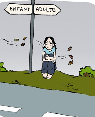 Le difficile passage de l'adolescence l'age adulte