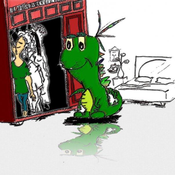 """Título según el autor: Iguana busca su traje más sexy hoy que es el día de su santo"""""""