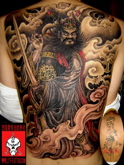 Good Evil Tattoos A Chinese style tattoo.