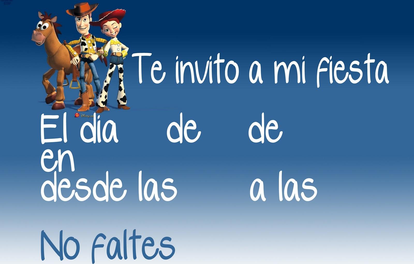 Completamente personalizable invitacion de cumpleaños de Toy Story