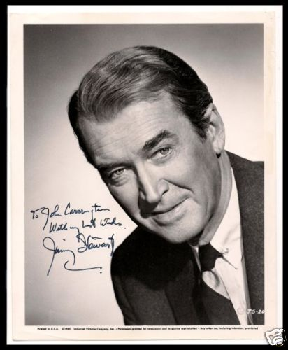 Jimmy Stewart, Autograph Collector, July 2006.