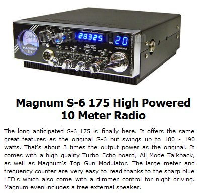 These same CB radio dealers, however, also offer