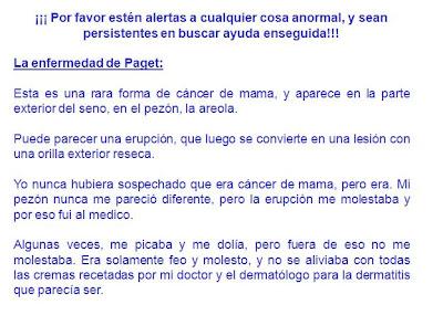 Enfermedad de Paget de los senos y los genitales