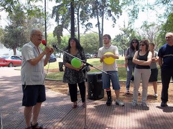 MOVILIZACION EN COMUNA 15 NO A LA COMISARÍA SÍ AL POLIDEPORTIVO