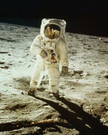 astronauts jumping on the moon - photo #12