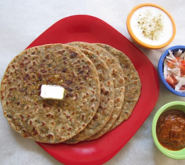 Sprouted Mung Aloo Paratha
