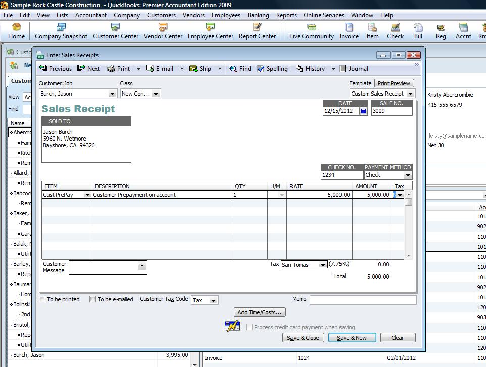 Ask Your Bookkeeper How Do I Record A Pre Payment From My Customer