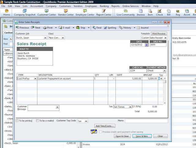 how to create a custom sales receipt in quickbooks