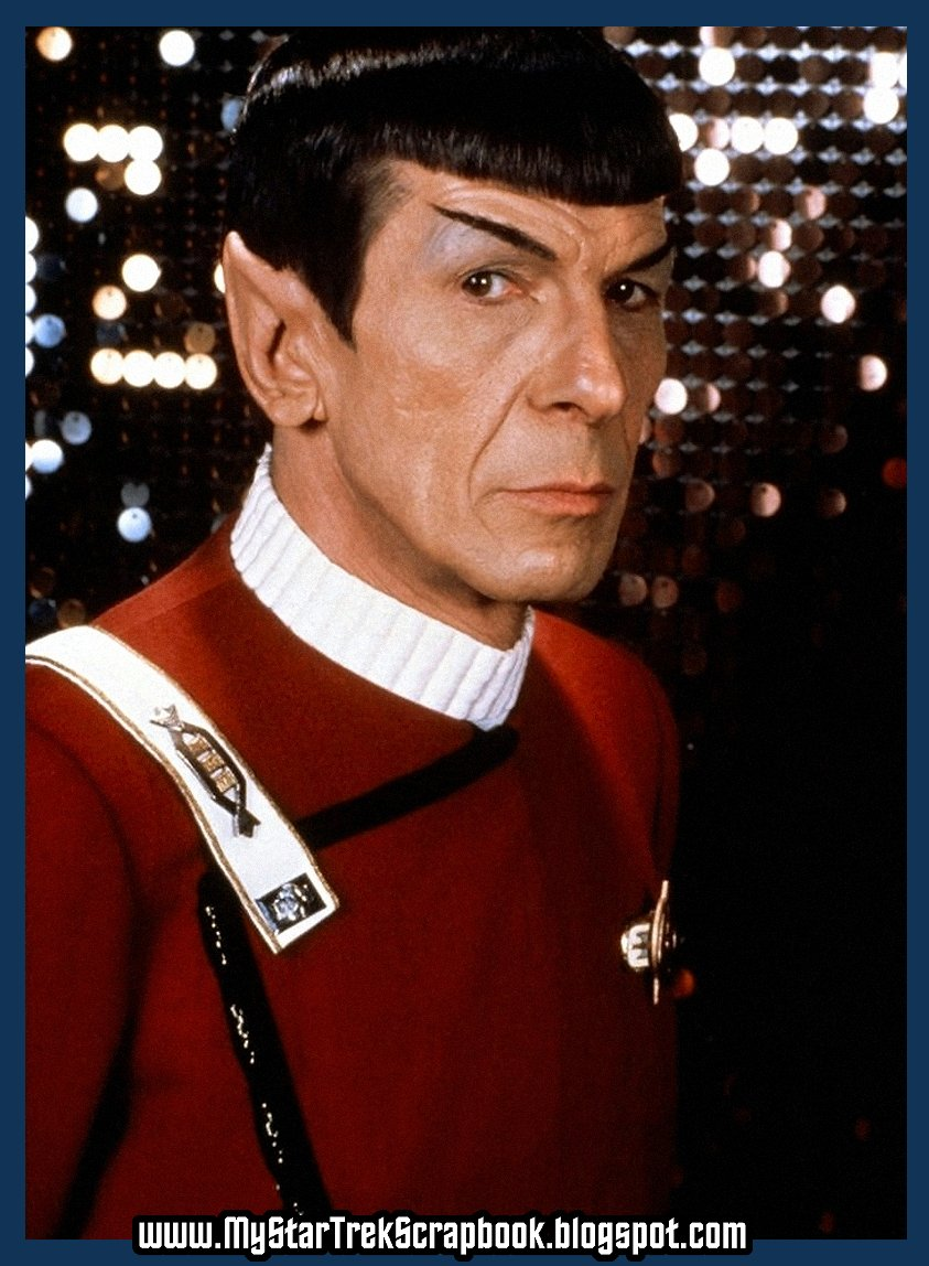 DR. Spock. Because unless my ears deceived me, you did. And these