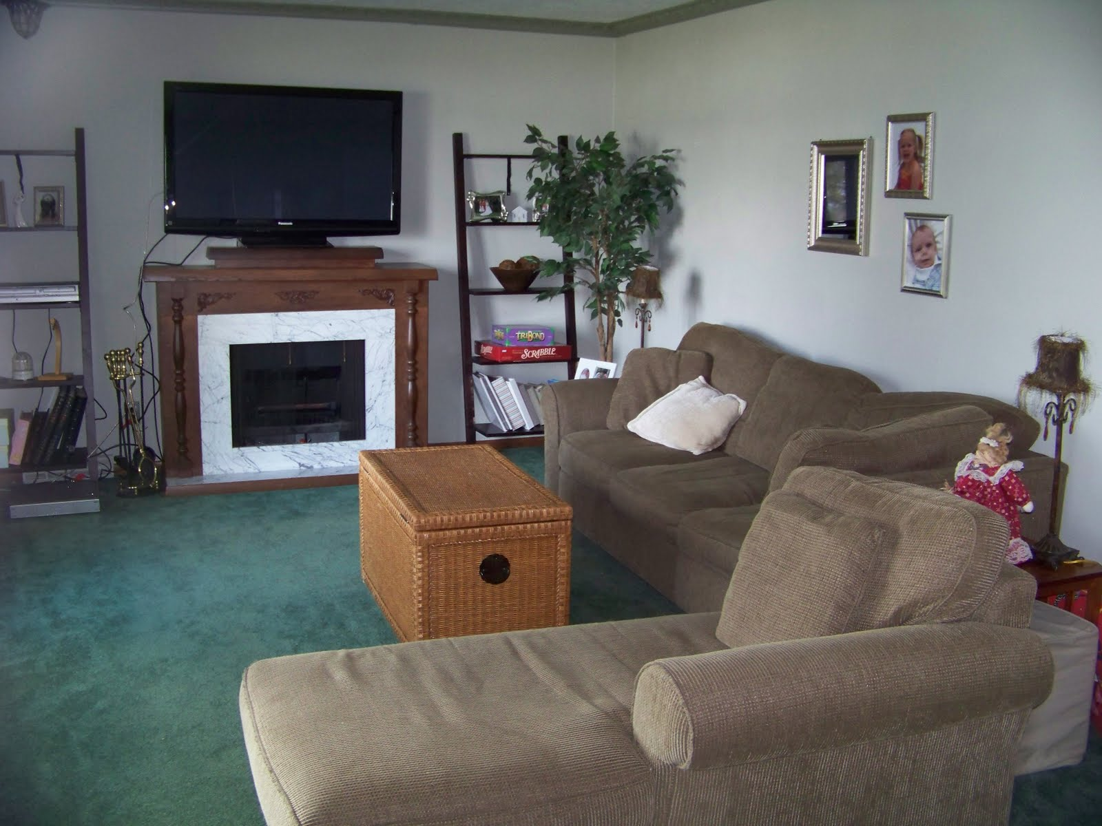 My forever house not so green with envy for Carpet living room ideas painting