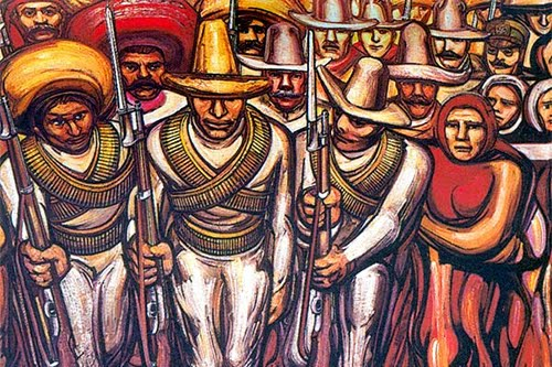 Siqueriros' &quot;Mexican muralism&quot;/social realism; poignant today.