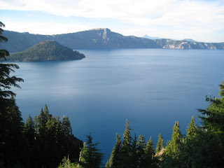 the view at crater lake