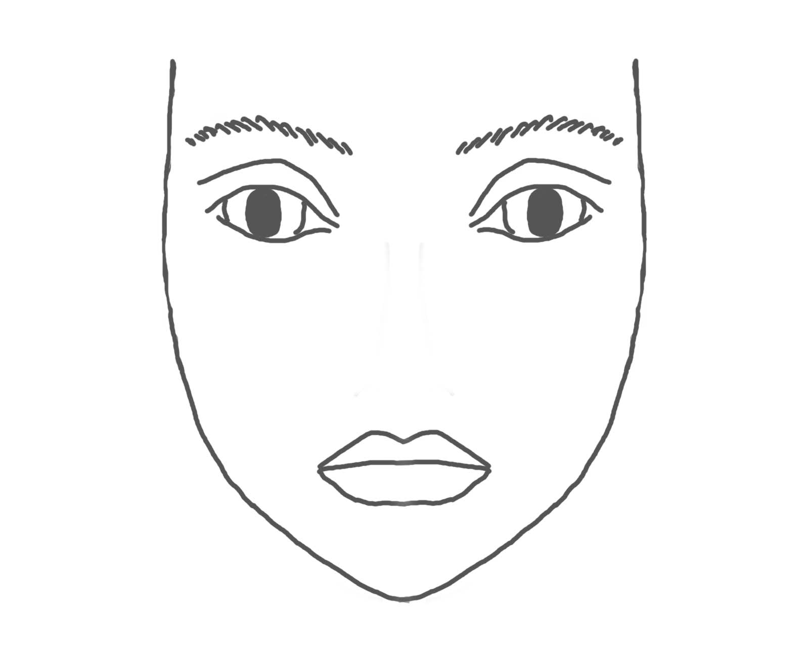 printable makeup face sketch templates