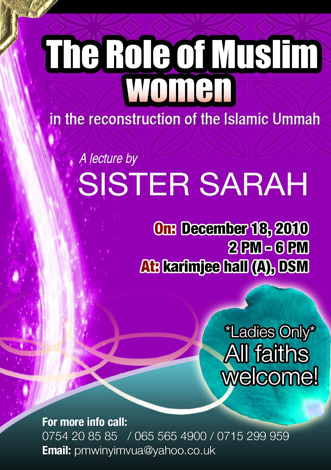 essay role of women in islam Conduct a powerpoint presentation on post colonial feminist social work perspective on the role of women in islam.