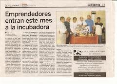 Creación de Incubadora c/Peq. Fábricas.Fundador.Lic L. Quezada