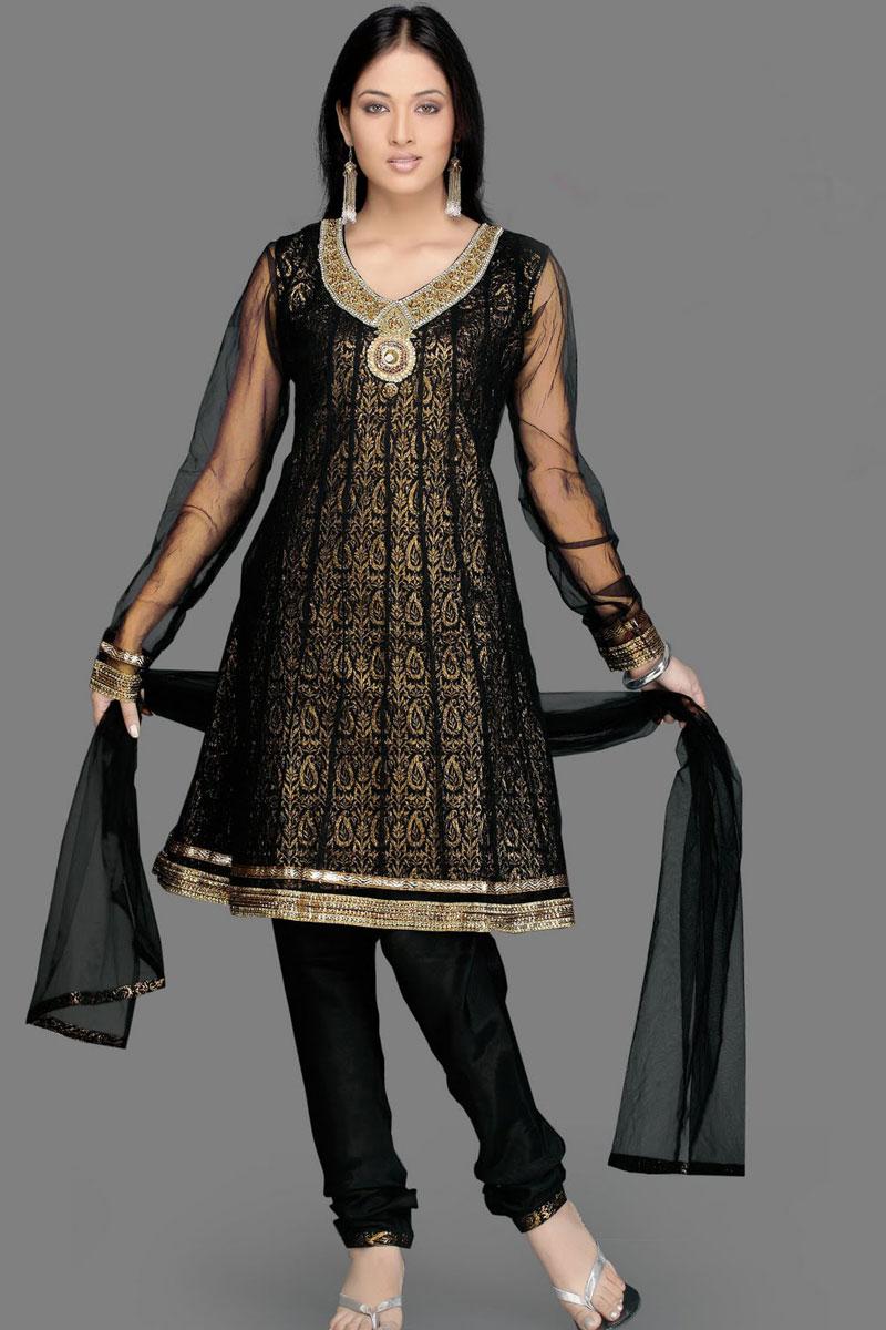 Fenomenal ladies night salwar kameez designs for Girls suit design