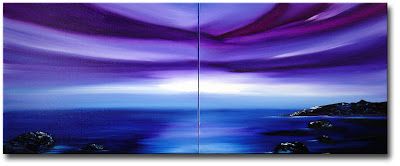 After the Rain - Indigo Seascape Painting