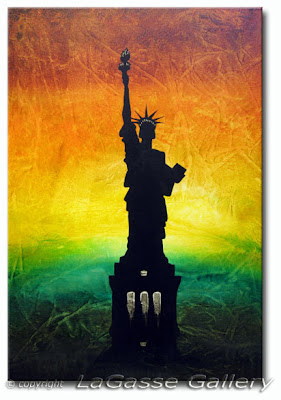 Lady Liberty - Abstract Painting