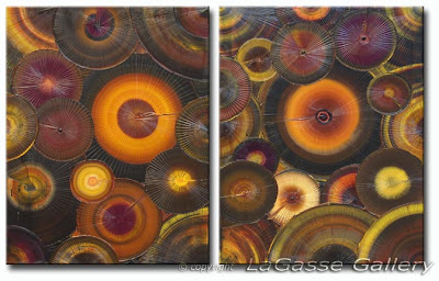 Fossil Texture abstract painting