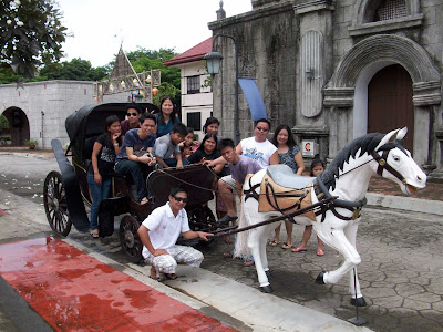 a replica of a kalesa or horse carriage at Nayong Pilipino at Clark, Angeles, Pampanga, Philippines