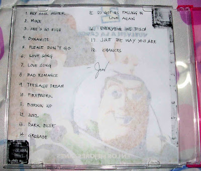 song list in CD