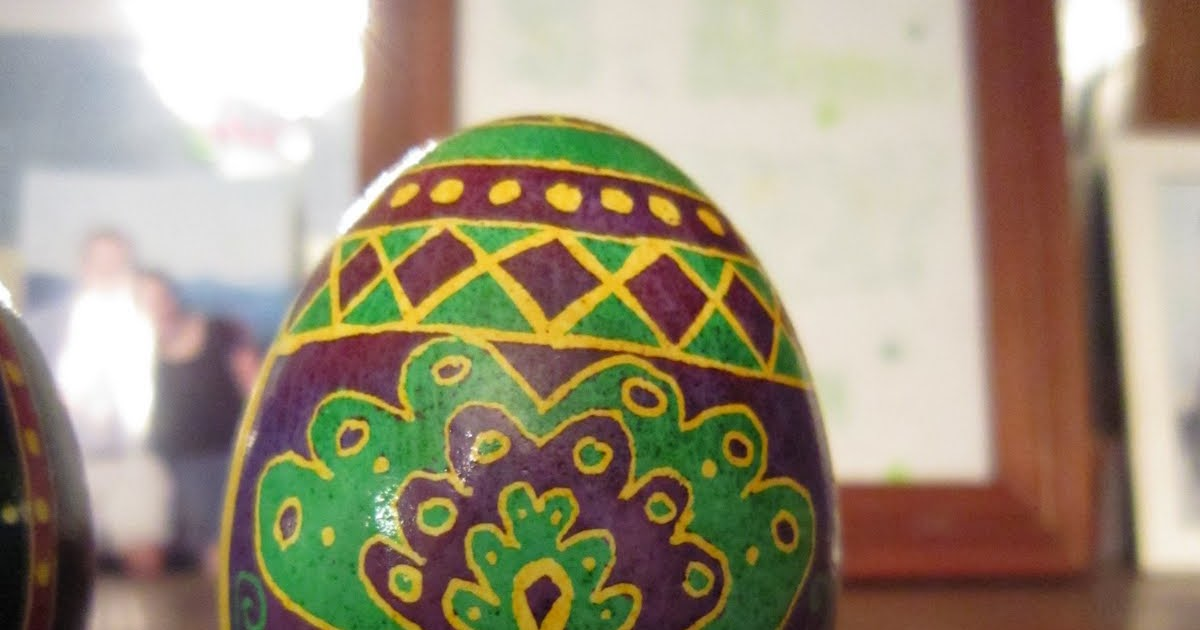 how to make pysanky eggs video