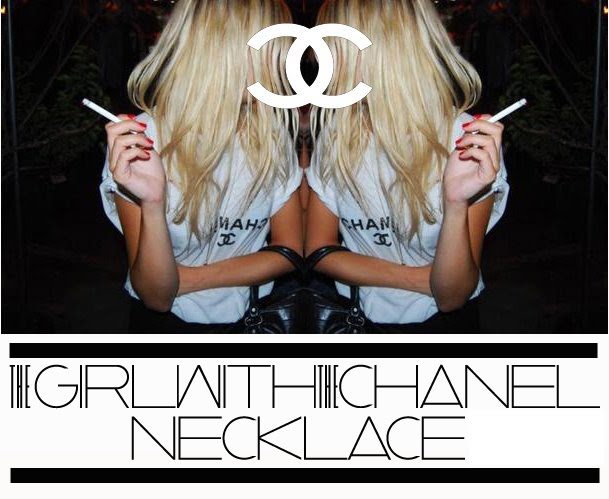 the girl with the chanel necklace