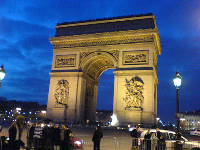 Arc de Triomphe, one of the most famous monuments in Paris