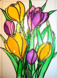Portachiavi decorato con colori da vetro classici... Tutorial