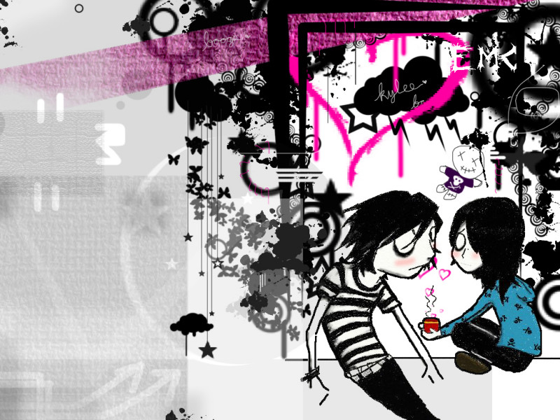 cute emo love pics. Previous, Emo - Emo Heart of Love wallpaper