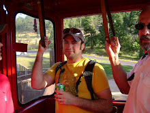 James in the Aerial Tramway