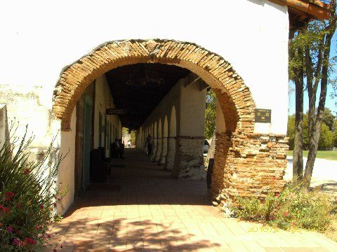Entrance to Mission San Juan Bautista...