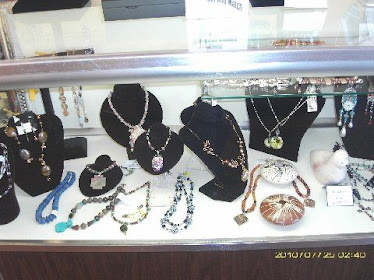 Many shops with beautiful jewelry...