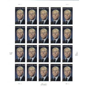 2007 GERALD R FORD #4199 Pane of 20 x 41c US Postage Stamps