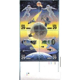 1992 SPACE ACCOMPLISHMENTS #2634a Plate Block of 4 x 29 cents US Postage Stamps