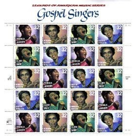 1998 GOSPEL SINGERS #3219a Pane of 20 x 32 cents US Postage Stamps