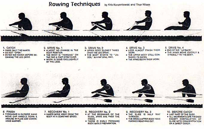 row machine technique
