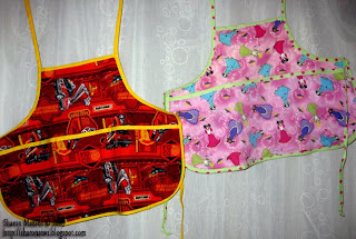 child's craft apron side one